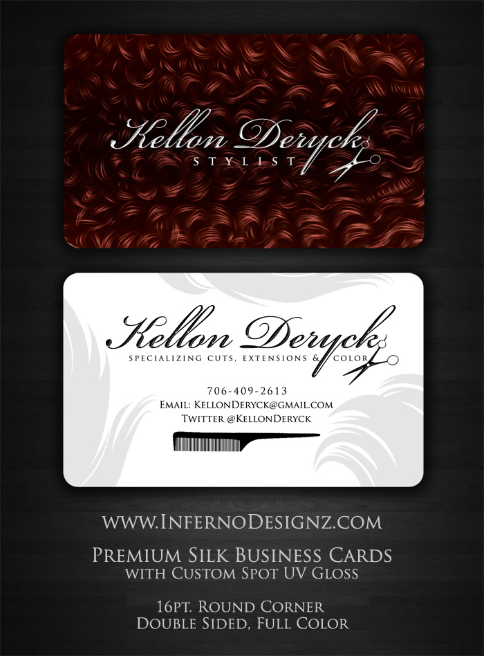 Hair Stylist Business Cards |