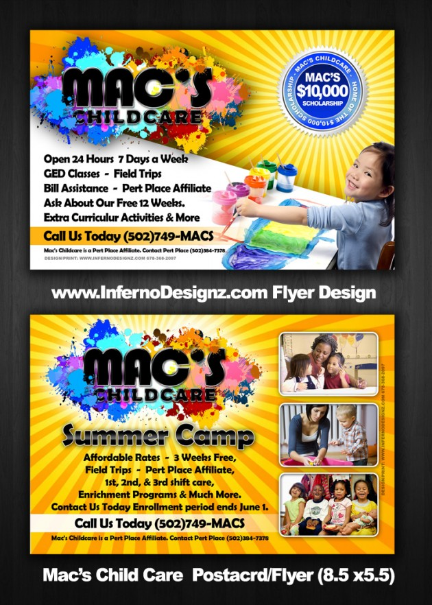 Mac'S Child Care Promotions/Doorhangers |