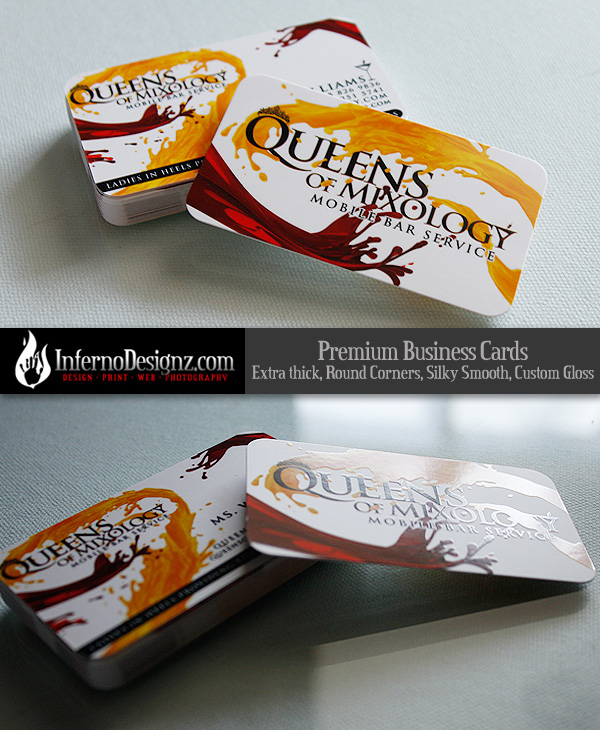 Queens of Mixology Card Sample - InfernoDesignCOM