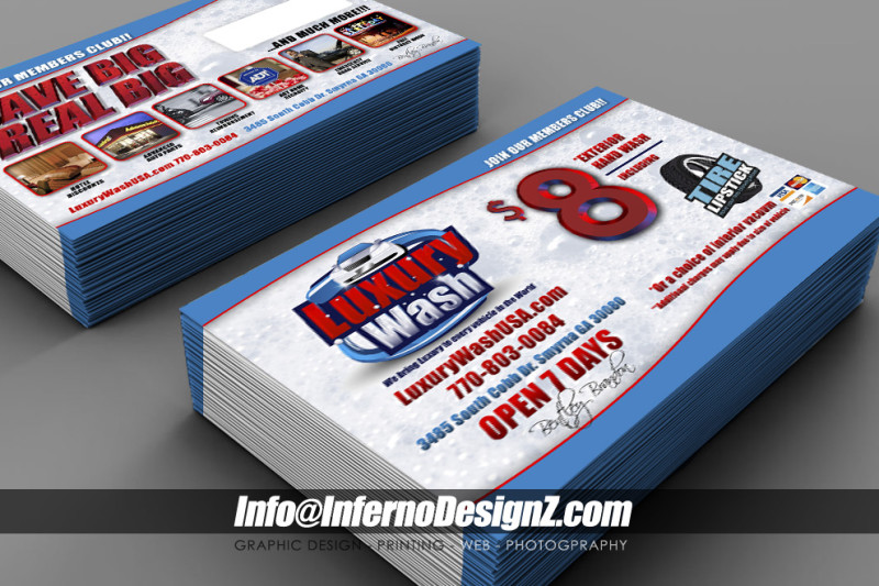 Luxury Carwash 6x9 Mailers