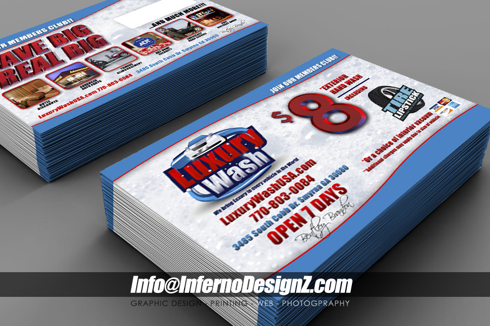 luxury carwash flyers and posters